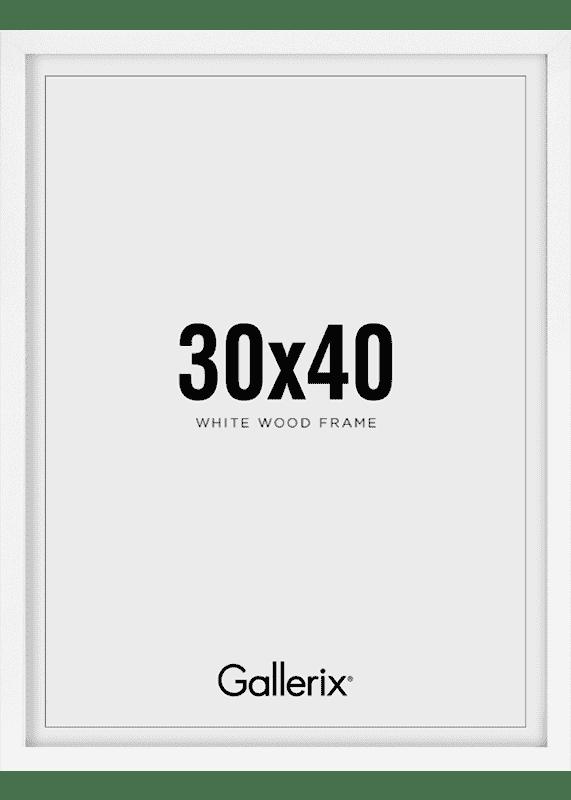Billedramme Træramme Hvid 30x40-0
