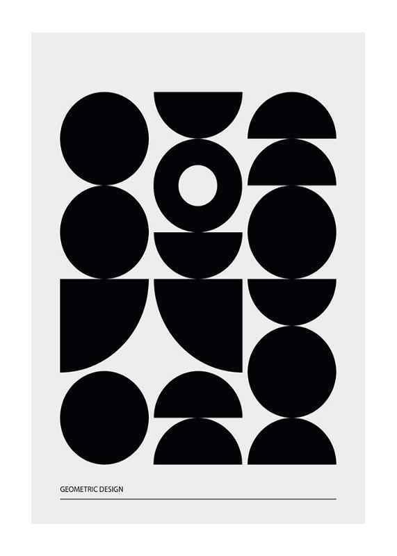 Geometric Graphic Black No1-1
