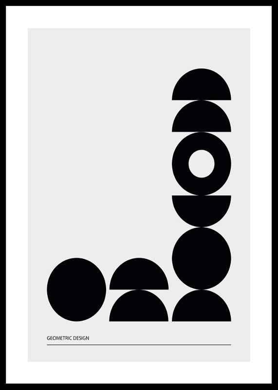 Geometric Graphic Black No2-0
