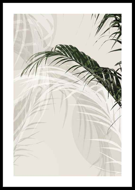 Abstract Palm Leaves No1-0