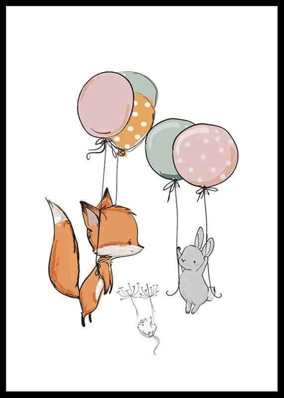 Animals And Balloons No1-0
