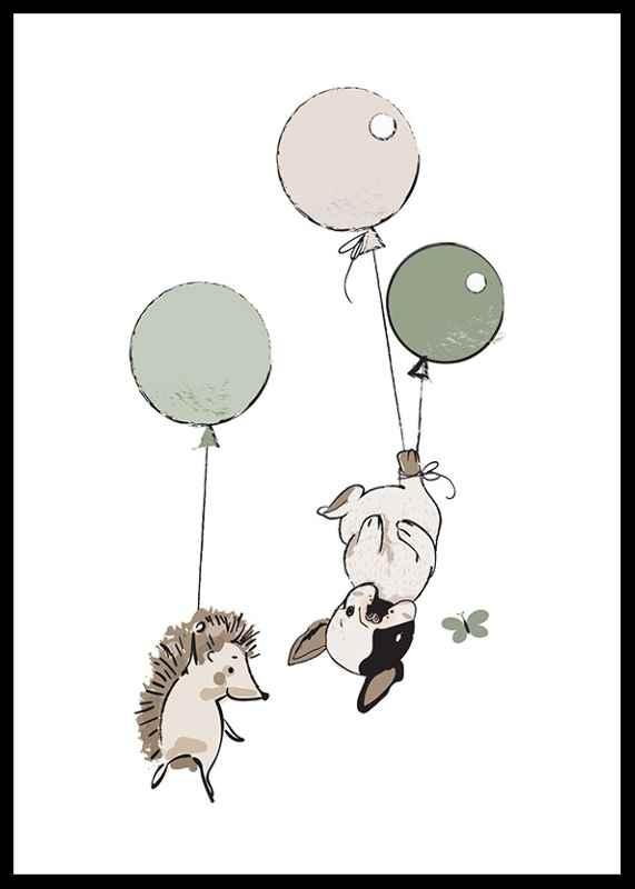 Animals And Balloons No2-0