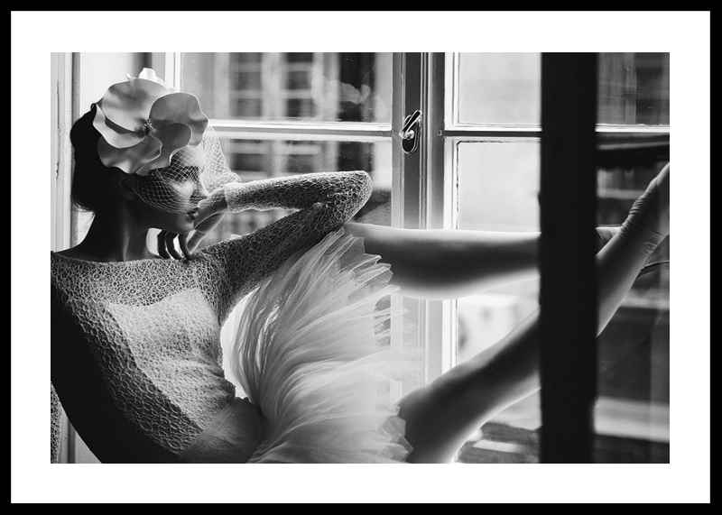 Woman In Window BW