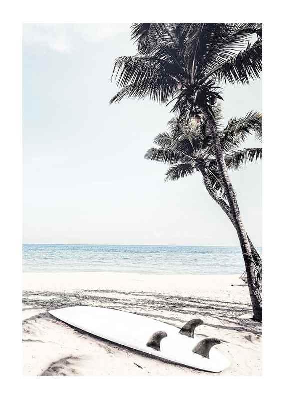 Surfboard On Beach-1