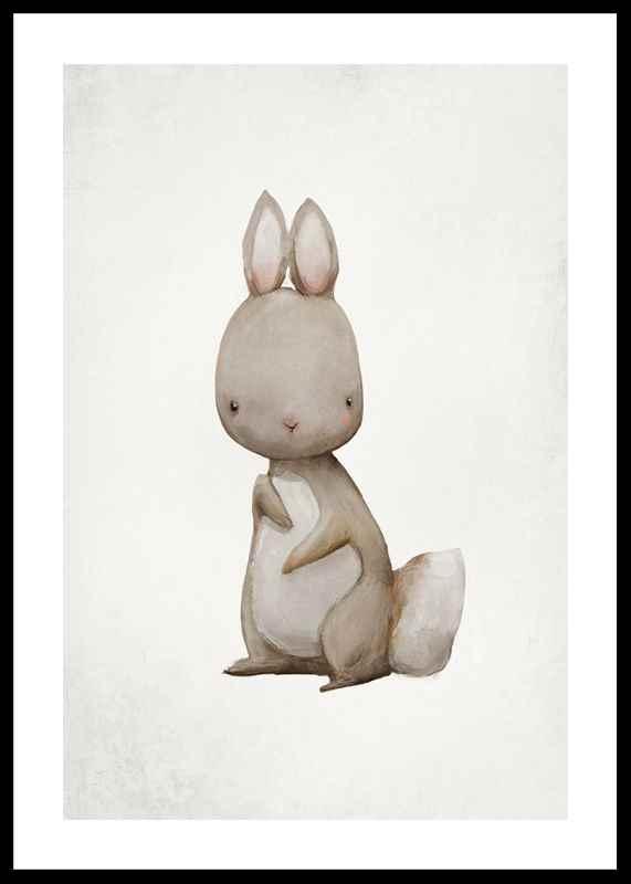 Watercolor Hare-0