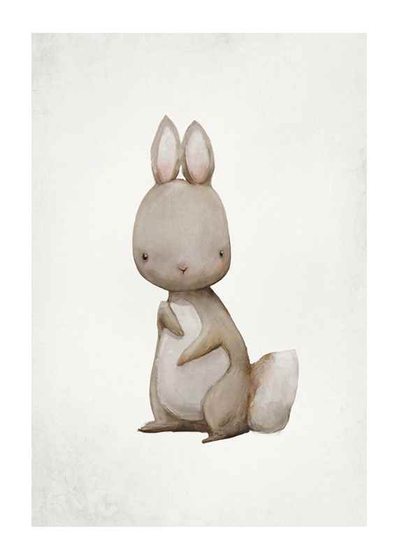 Watercolor Hare-1