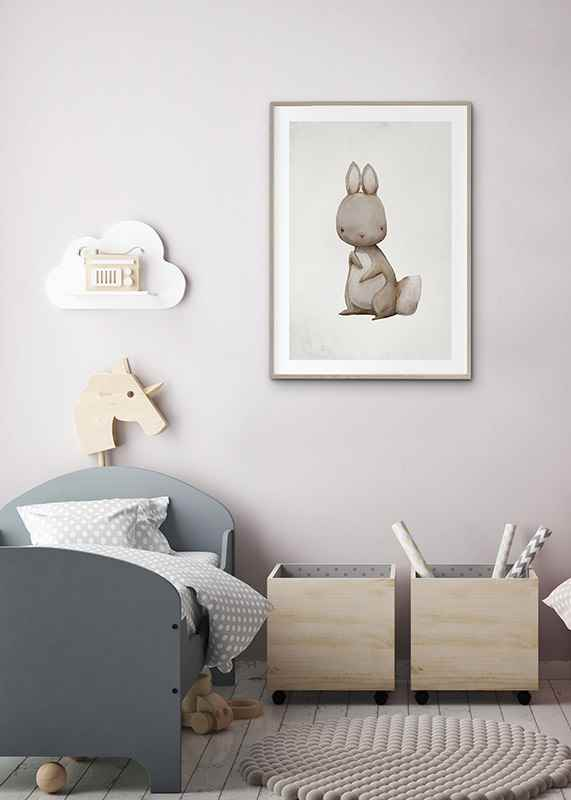 Watercolor Hare-4