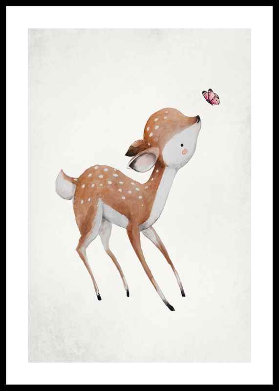 Watercolor Deer-0