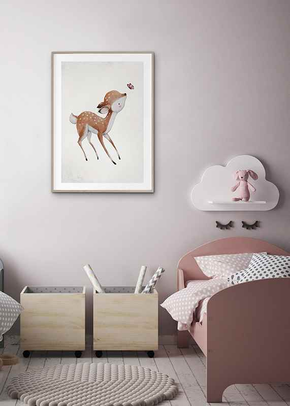 Watercolor Deer-4