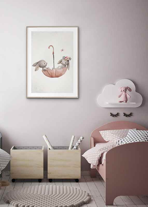 Watercolor Rabbit Friends-4