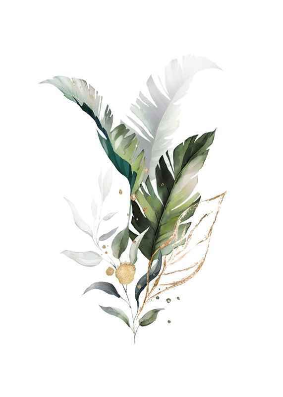 Watercolor Botanical No3-1