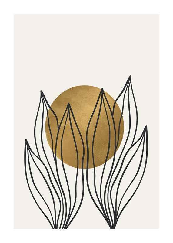 Watercolor Gold No1-1