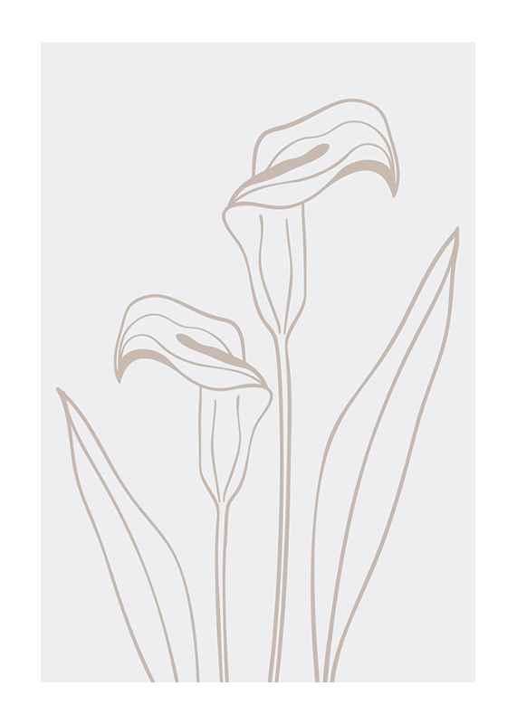 Line Art Flower No3-1
