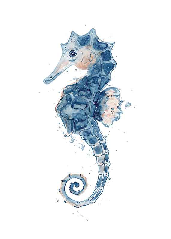 Blue Seahorse-1