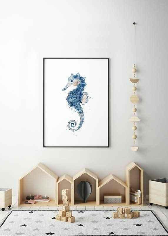 Blue Seahorse-2