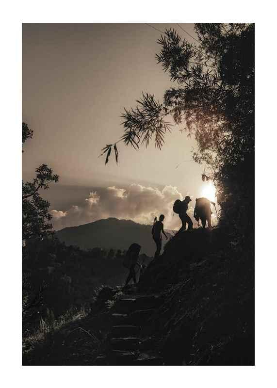 Hikers Climbing-1