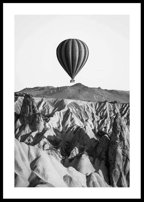Hot Air Balloon B&W