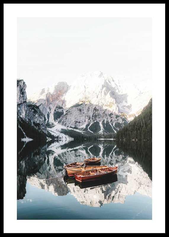 Rowing Boats In Lake Braies