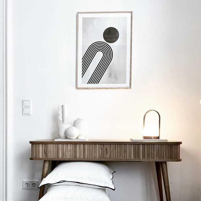 Kombiner plakaterne med møblerne