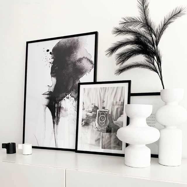 Sort-hvide plakater
